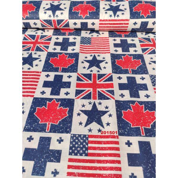 mintás vászon/ amerikai zászlók (amerikai 8cm*9,2cm)