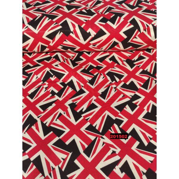 mintás vászon/Angol zászló (6,7cm*5cm) /fekete