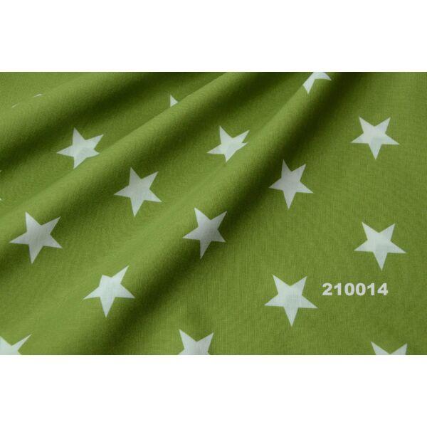 Mintás pamutvászon /csillag mintás 30mm zöld-fehér(Félméter)