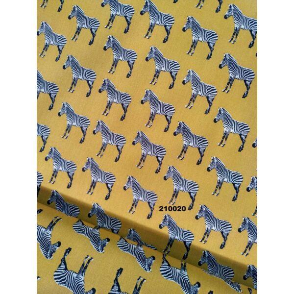Vászon zebra mintás sárga alapon(3,5x3,5 cm)
