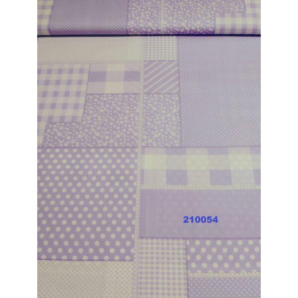 mintás vászon /patchwork /lila