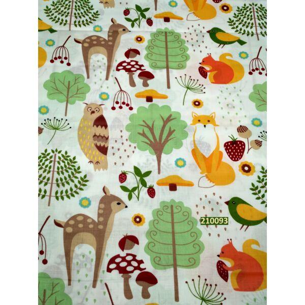 mintás vászon /erdei állatok (mókus 7,5cm*6cm)