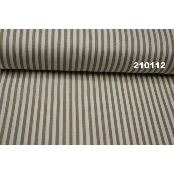 Vászon drapp-fehér csíkos 0,5cm