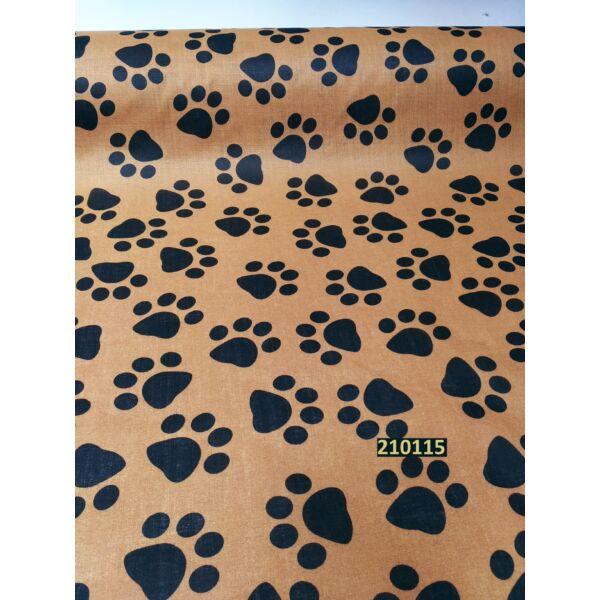 Kevertszálas vászon /tappancs mintával (5cm*5cm) /sötét drapp