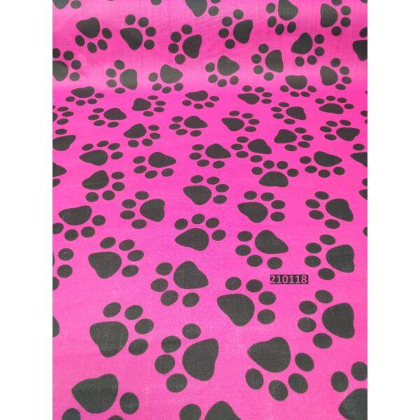 Kevertszálas vászon /tappancs mintával (5cm*5cm) /pink
