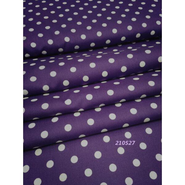 mintás vászon /pöttyös 7mm /sötét lila