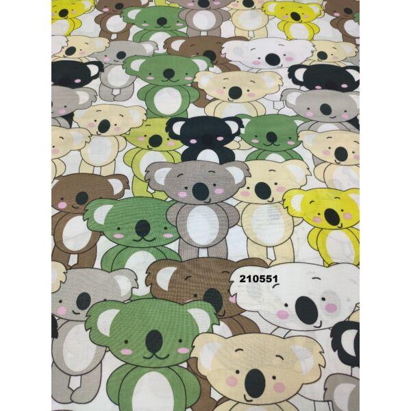 mintás vászon /szines koalák /zöld