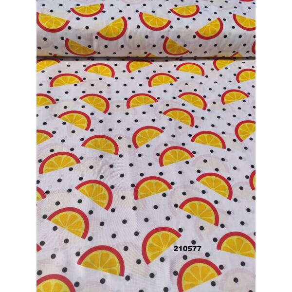 mintás vászon/ narancs szeletek 5,5cm*2,8cm