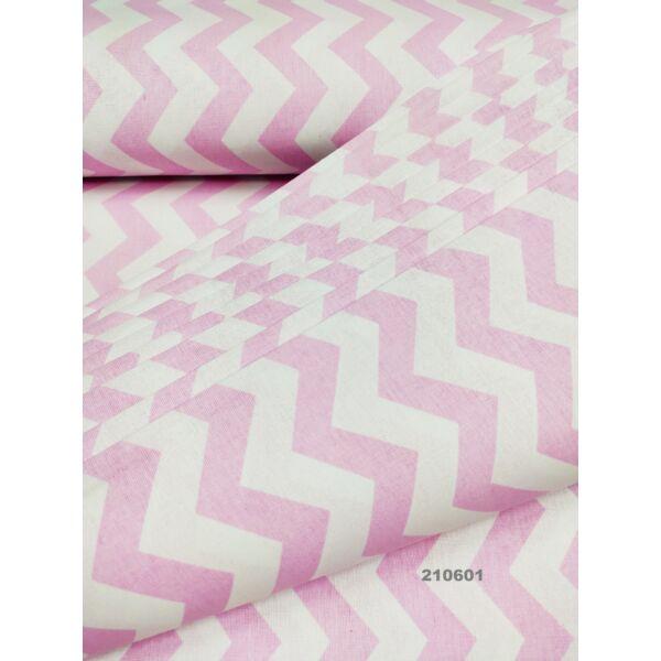 mintás pamutvászon /chevron mintás (1,5cm) /rózsaszín-fehér