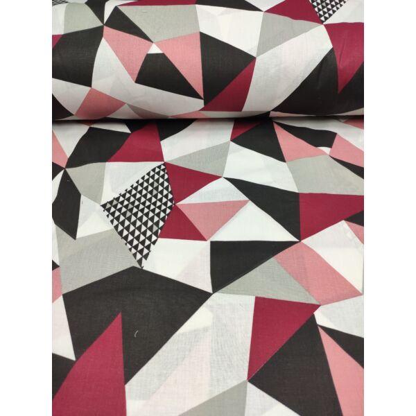 mintás pamutvászon /geometriai minta (pepita négyszög 9cm*16cm) /bordó-fekete