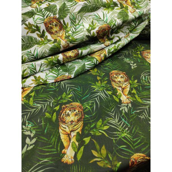 mintás pamutvászon /tigris a dzsungelben (tigris 7.5cm*17.5cm)