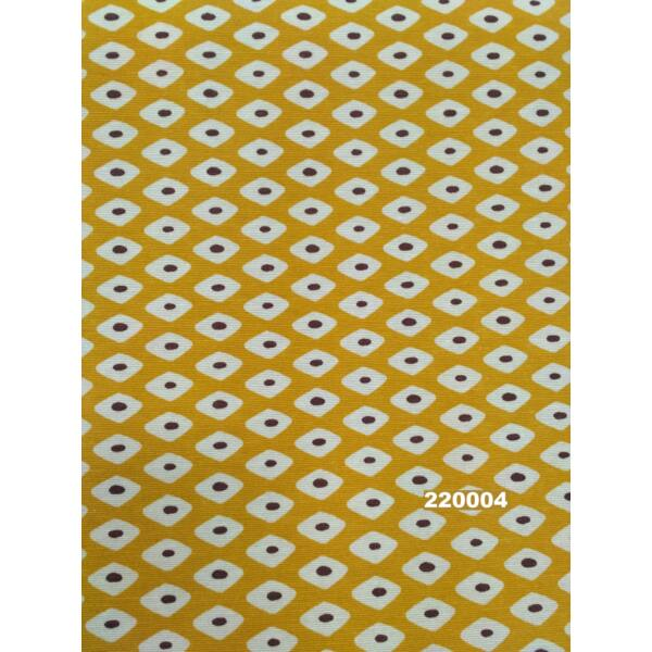 LONETA vastag vászon /geometriai mintás /mustár sárga /280sz.