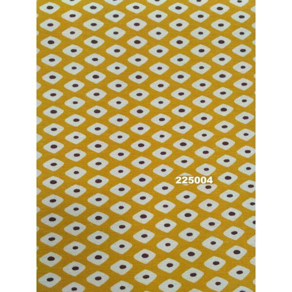 mintás LONETA vastag vászon / geometriai mintás /mustár sárga /140sz.