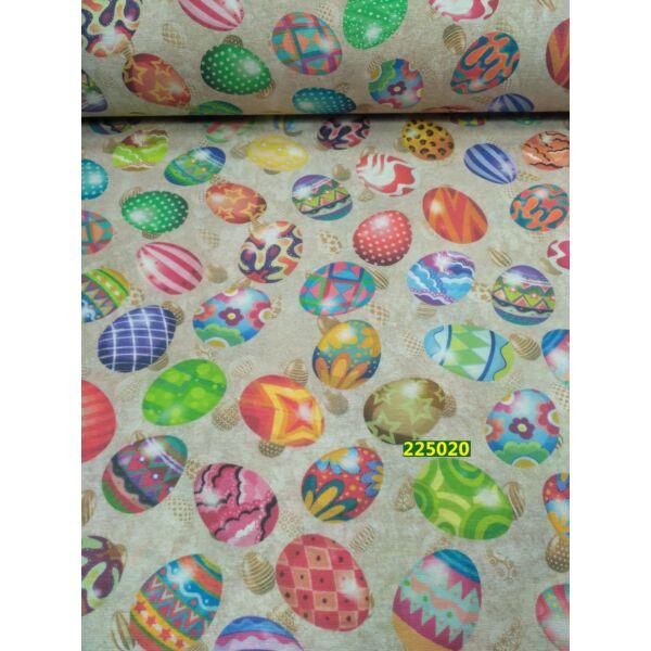 Loneta mintás vászon  /szines tojások