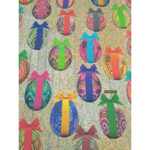 mintás LONETA vastag vászon /masnis tojások 8cm*5cm