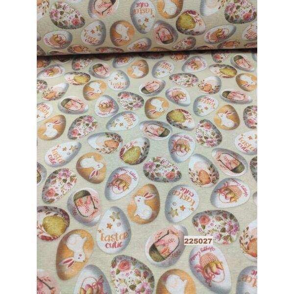vastag vászon /Húsvéti tojások (virágos tojás 4,7cm*3,5cm)