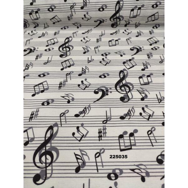 mintás LONETA vastag vászon / kotta (violinkulcs 10cm × 3.5cm) /fehér