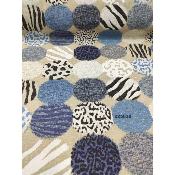 LONETA mintás vastag vászon /állatmintás körök (zebra mintás kör 17.5cm × 8.5cm) /drapp