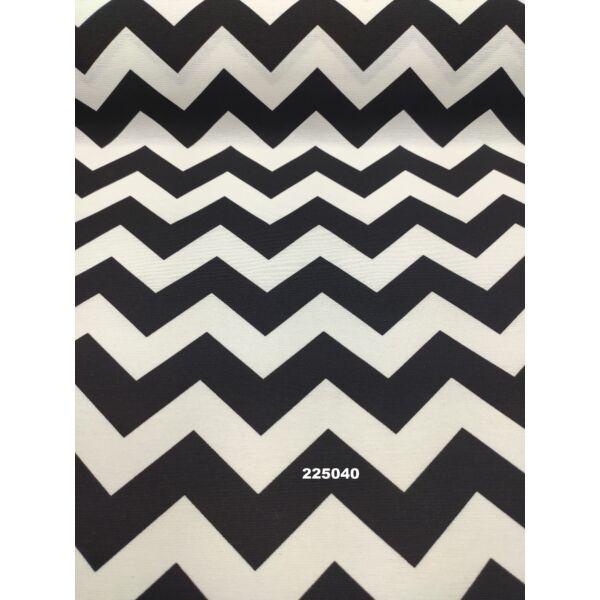 LONETA mintás vastag vászon /chevron mintás /fekete-fehér