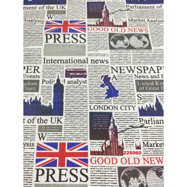 mintás LONETA vastag vászon /angliai hírek (Westminster-palota 17cm × 11cm) /fehér
