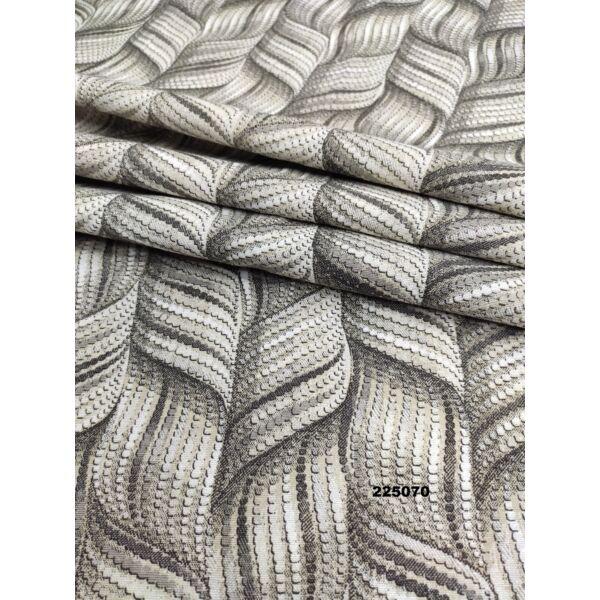 mintás LONETA vastag vászon /absztrakt sodrott minta /szürke-drapp