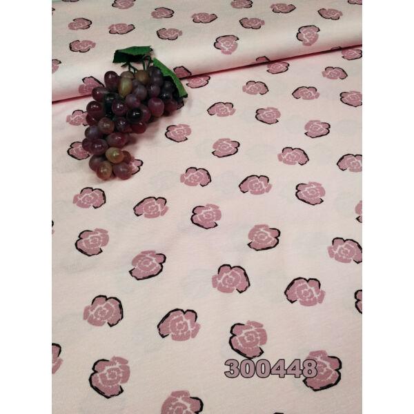 mintás viszkóz /virágos /rózsaszín