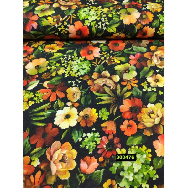 elasztikus pamut jersey /virágművészet DIGITAL PRINT