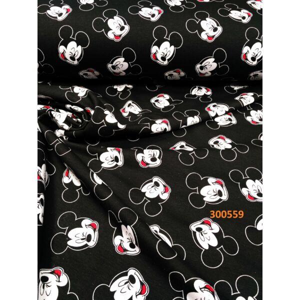 mintás futter / fekete alapon Mickey fejek (5cm*5cm)