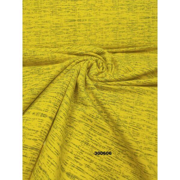 elasztikus futter/ melange/ sárga