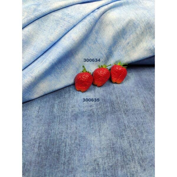 elasztikus mintás pamut jersey /farmer hatású