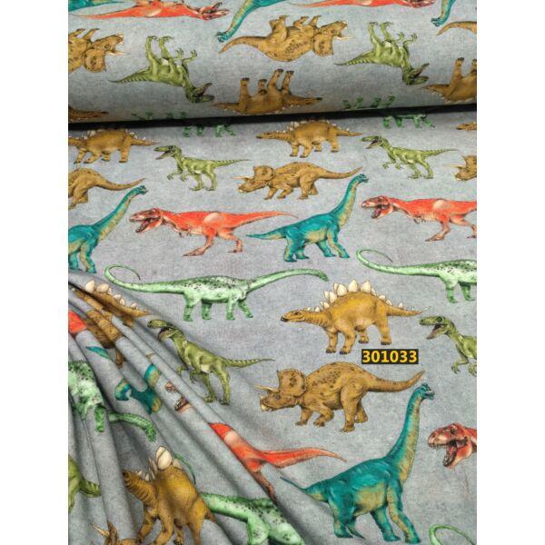 elasztikus pamut jersey /dinoszauruszok (raptor 12cm*4cm)
