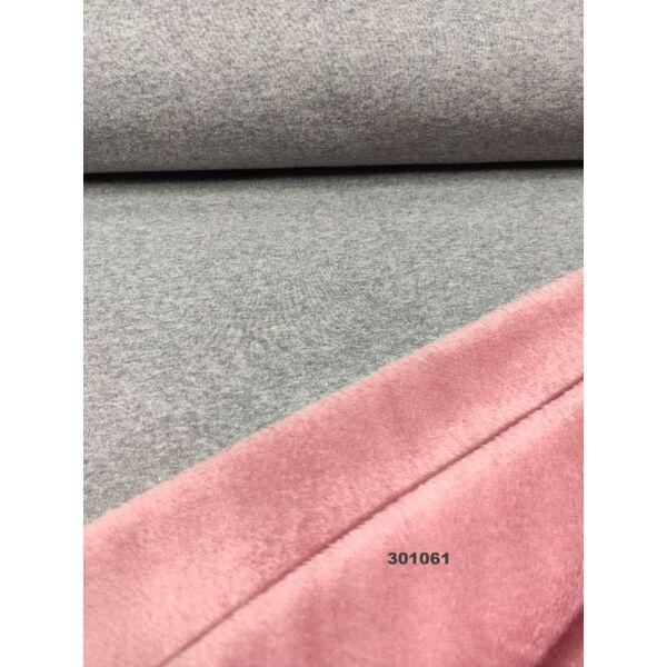 2 oldalas warmkeeper(szőrös szabadidő anyag) /szürke-rózsaszín