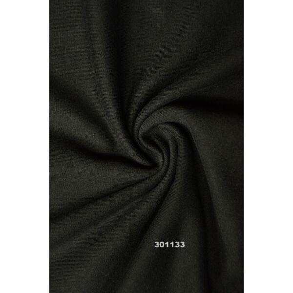elasztikus egyszínű bolyhos futter /fekete