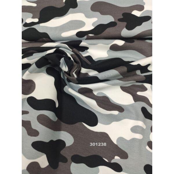 elasztikus mintás futter / terepmintás /barna-fekete
