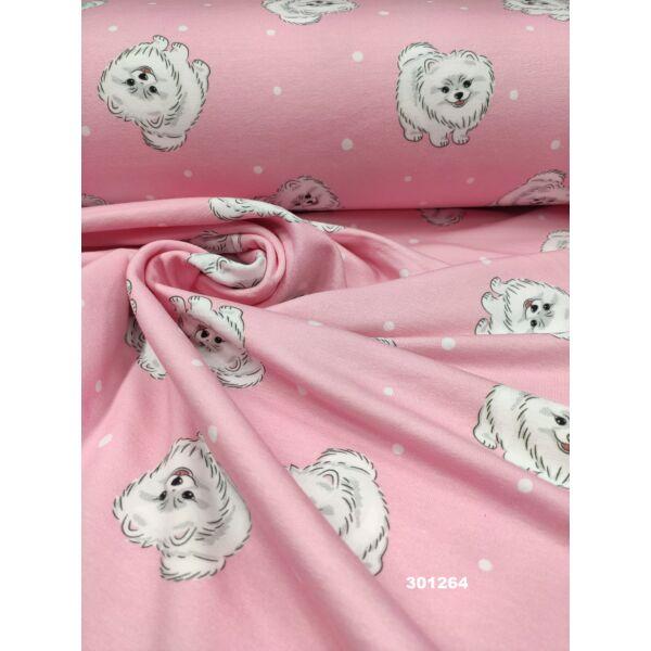 elasztikus mintás futter /spicc kutya (6cm × 6cm) /rózsaszín
