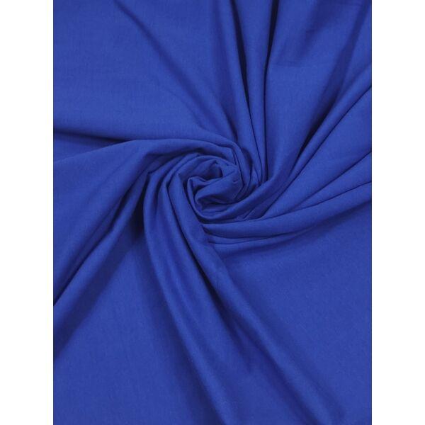 elasztikus egyszínű pamut jersey /királykék