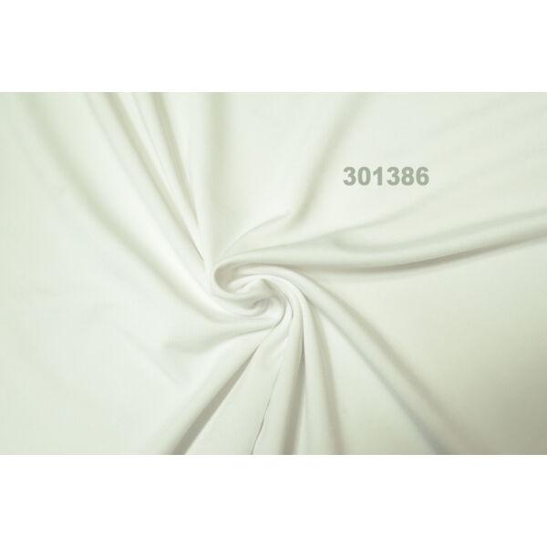 elasztikus egyszínű pamut jersey /fehér