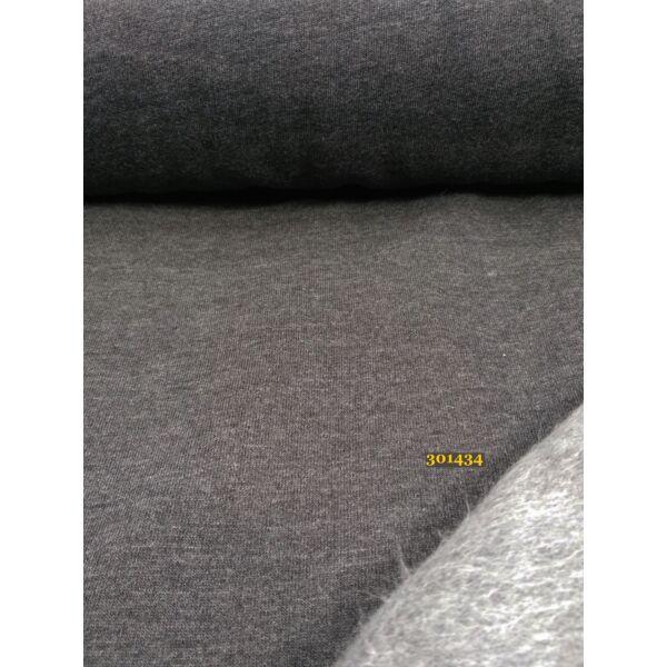 egyszínű bolyhos futter /sötétszürke melange