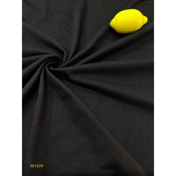 egyszínű egyfalas pamut jersey / fekete