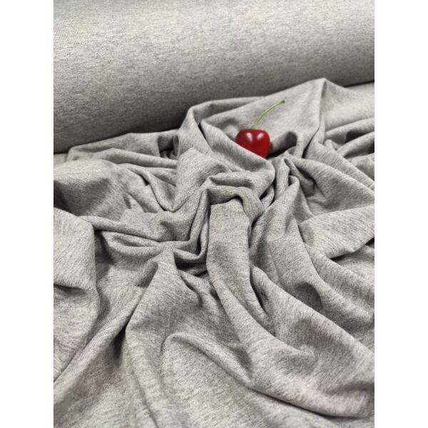 egyszínű viszkóz jersey /melange középszürke