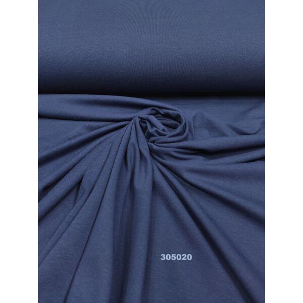 egyszínű 100% pamut jersey /sötét kék