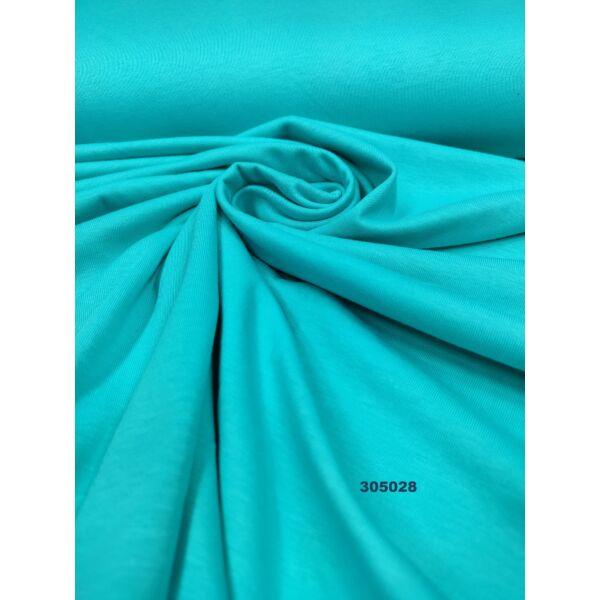 egyszínű 100% pamut jersey /világos türkizkék