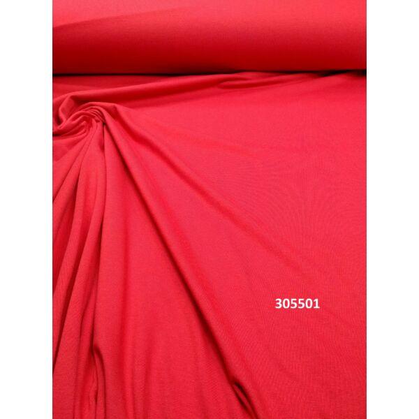 egyszínű 100% pamut jersey /piros