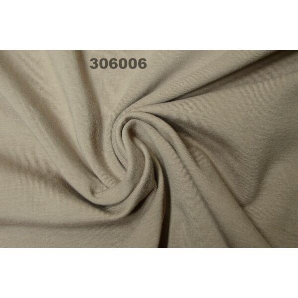 elasztikus egyszínű pamut jersey /tejeskávé
