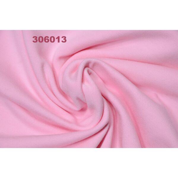 elasztikus egyszínű pamut jersey /babarózsaszín