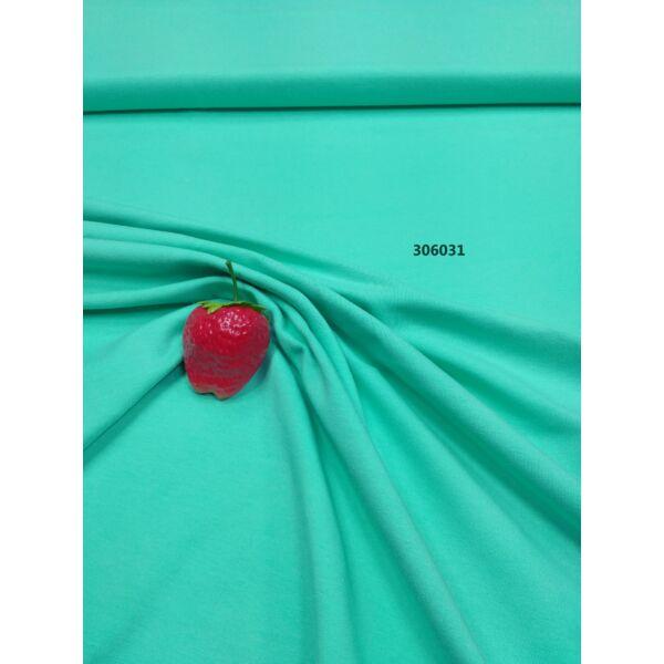 elasztikus egyszínű pamut jersey /mentazöld