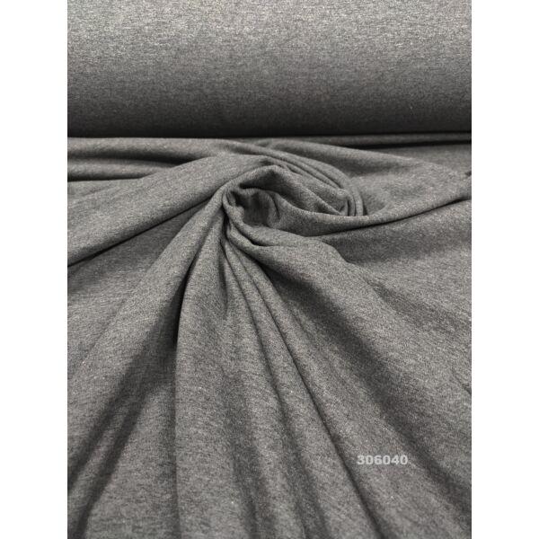 elasztikus egyszínű pamut jersey / sötét szürke melange