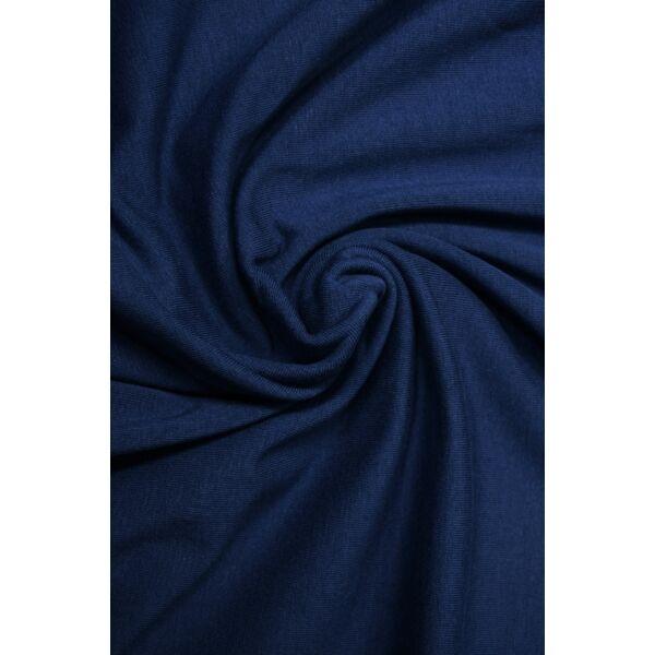 elasztikus egyszínű pamut jersey /sötét farmerkék