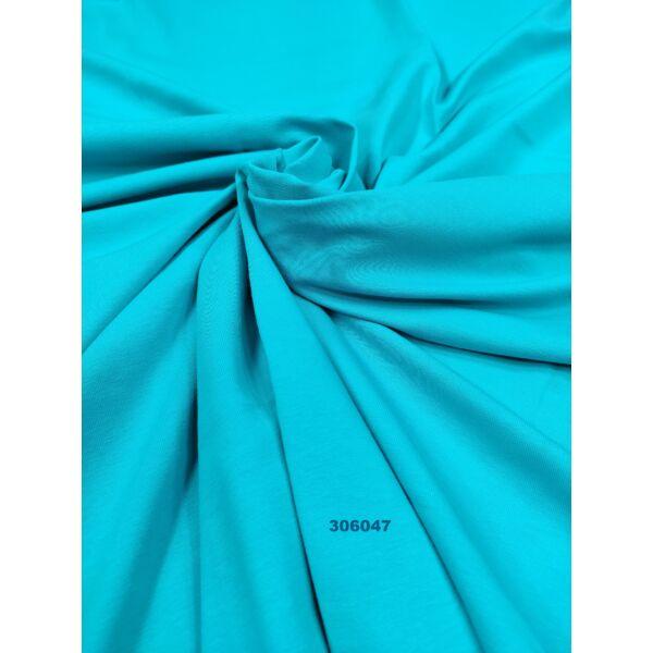 egyszínű pamut jersey/aqua kék(FÉLMÉTER)