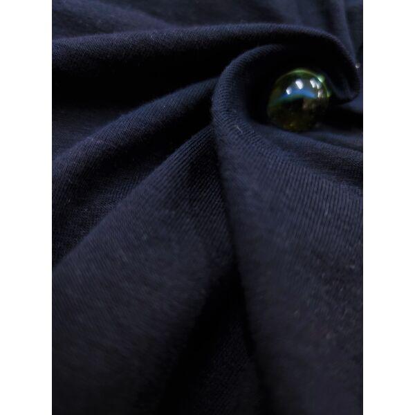 elasztikus egyszínű pamut jersey /éjkék